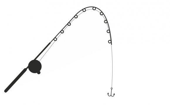 Fishing Pole Clip Art Black