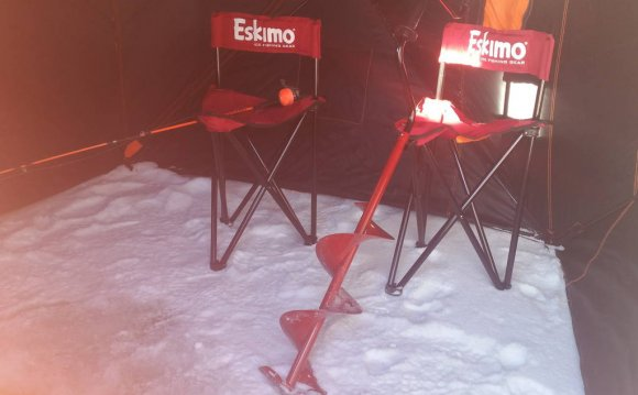 Ice Fishing chairs and an