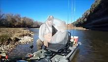 Brazos River Kayak Fishing!WS Air Pro Max Seat