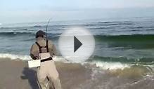 Fly Fishing NJ for Striped Bass in the NJ Surf