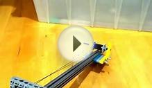 Linear slide using Lego spools and Spectra fishing line